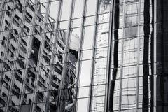 Modern architectuur zwart-wit fragment Royalty-vrije Stock Foto's