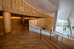 Modern architectuurbinnenland stock afbeelding