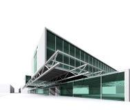 Modern architectuurhuis Royalty-vrije Stock Afbeelding