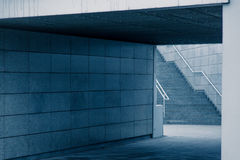 Modern architekture, Wroclaw stadium, cold tone concept Royalty Free Stock Photos