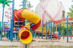 Modern  area for children playground in park Royalty Free Stock Image