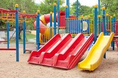 Modern  area for children playground in park Stock Photo