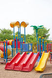 Modern  area for children playground in park Stock Photo