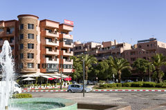 Modern area before train station in Marrakesh Royalty Free Stock Photos