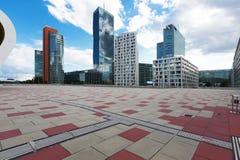 Modern area in Wien. Skyline in modern area in Wien Royalty Free Stock Photo