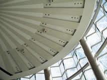 Modern arkitektonisk takfönsterstruktur Arkivbild
