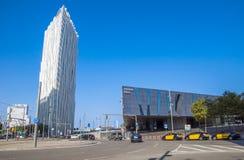 Modern arkitektur av Barcelona Arkivbilder