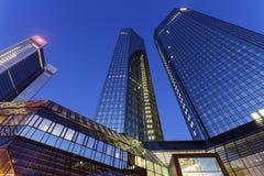 Modern arkitektur av centret av Frankfurt Arkivfoton