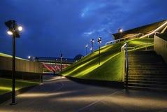 Modern arkitektur av mitten för internationell konferens i th Arkivbild