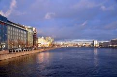 Modern arkitektur av St Petersburg Royaltyfria Foton