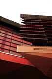 Modern arkitektur av vägggarneringen Arkivbild