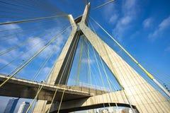 modern arkitektur bridges modernt Kabel-bliven bro i världen, Sao Paulo Brazil royaltyfri foto