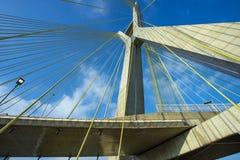 modern arkitektur bridges modernt Kabel-bliven bro i världen, Sao Paulo Brazil royaltyfri fotografi