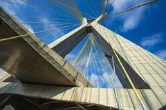 modern arkitektur bridges modernt Kabel-bliven bro i världen, Sao Paulo Brazil arkivbild