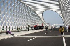 Modern arkitektur, bro Arkivbilder
