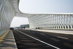 Modern arkitektur, bro Royaltyfri Fotografi