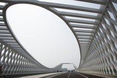 Modern arkitektur, bro Royaltyfria Foton