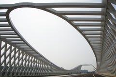 Modern arkitektur, bro Arkivfoto