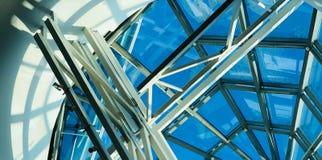 modern arkitektur designmetall arkivfoton