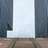 Modern arkitektur Dusseldorf, Tyskland royaltyfri bild