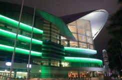 Modern arkitektur Hong Kong Convention och utställningmitt Royaltyfri Bild