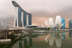 Modern arkitektur i den Singapore staden Royaltyfria Bilder