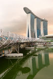 Modern arkitektur i den Singapore staden Arkivbild