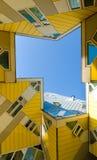 Modern arkitektur i Rotterdam Arkivfoto