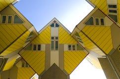 Modern arkitektur i Rotterdam Arkivbilder