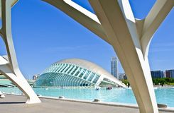 Modern arkitektur i staden av konster och vetenskaper, Valencia royaltyfria foton