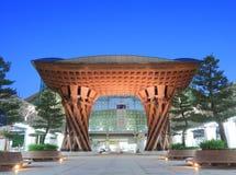 Modern arkitektur Japan för Kanazawa station Fotografering för Bildbyråer