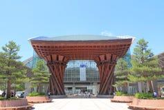 Modern arkitektur Japan för Kanazawa station Arkivbild