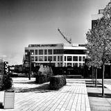 modern arkitektur Konstnärlig blick i svartvitt Royaltyfri Bild