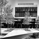 modern arkitektur Konstnärlig blick i svartvitt Arkivbilder