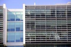Modern arkitektur, kontorsbyggnadfasad, arbetsställen royaltyfri fotografi
