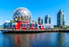 Modern arkitektur på False Creek, Vancouver, British Columbia, Kanada Arkivfoton