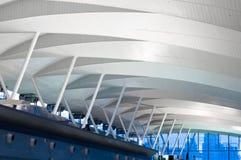 Modern arkitektur på flygplatsräckestation Royaltyfri Bild