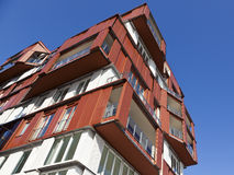Modern arkitektur på Hamburg HafenCity arkivfoton