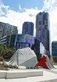 Modern arkitektur på hamnkvarter i strandstaden, Melbourne Arkivfoton