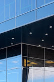 Modern arkitektur som symbol av den företags identiteten Arkivbild