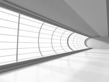 Modern arkitekturkorridor med fönstret Abstrakt inrebaksida stock illustrationer