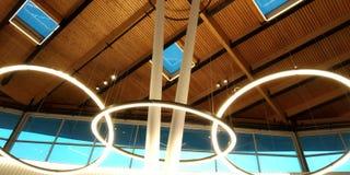 Modern arkitekturtakstructure royaltyfria foton