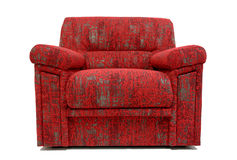 Modern armchair. Modernly designed, covered by high quality red textile Royalty Free Stock Image