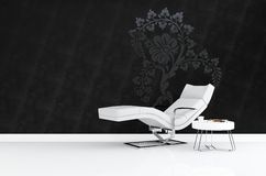 Modern armchair 3D rendering Royalty Free Stock Photography