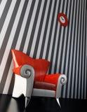Modern armchair 3D rendering Stock Images
