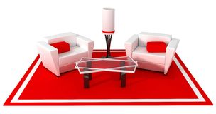 Modern armchair, red style Royalty Free Stock Photography