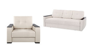 Modern armchair and sofa Royalty Free Stock Photos