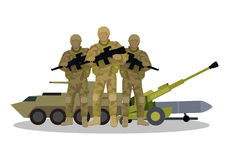 Modern Armed Forces Types Flat Vector Concept Stock Photo