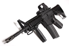 Modern army weapon. M4 RIS carbine. Stock Photos