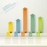 Modern arrow bar chart infographic elements Royalty Free Stock Photo